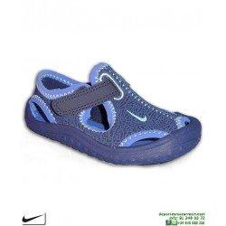 Sandalia Nike SUNRAY PROTECT TD Infantil Niño 903632-400 azul chancla
