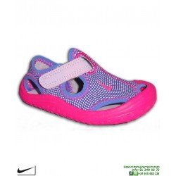 Sandalia Nike SUNRAY PROTECT TD Infantil Niña 903634-500 Rosa Morado chancla
