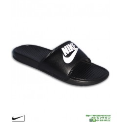 Chancla NIKE BENASSI JUST DO IT Negro Hombre 343880-090 sandalia pala