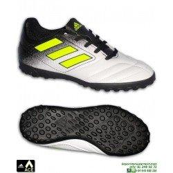 Adidas ACE 17.4 Niño Blanco Zapatilla futbol Microtaco TURF S77117