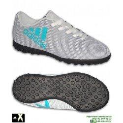 Adidas X 17.4 Niños Blanco Zapatilla Futbol Minitacos Turf S82420