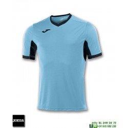 JOMA Camiseta CHAMPION IV Futbol AZUL TURQUESA - NEGRO 100683.011