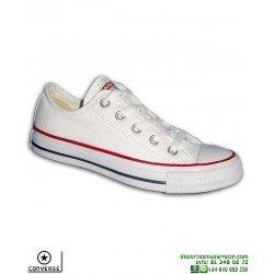 Sneaker CONVERSE ALL STAR OX Blanco Mujer Chuck Taylor Zapatilla lona tela Moda M7652C-102