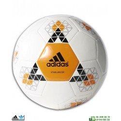 Balon de Futbol ADIDAS STARLANCER V Blanco-Naranja AC5543
