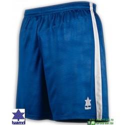 LUANVI Pantalon Corto CAMU Futbol AZUL ROYAL 08480-0600 short