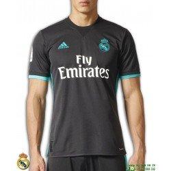 Camiseta REAL MADRID 2017-2018 Negra 2ªEquipacion Adidas Oficial