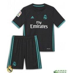 Conjunto REAL MADRID 2017-2018 Niño Negro 2ªEquipacion Adidas Oficial
