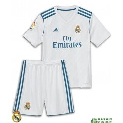 Conjunto REAL MADRID 2017-2018 Niño Blanco Equipacion Local Adidas Oficial B31114