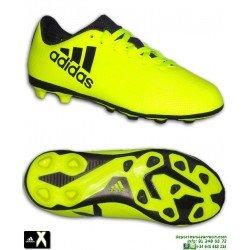 ADIDAS X 17.4 niños Amarilla Bota Futbol Hierba Artificial FxG S82404