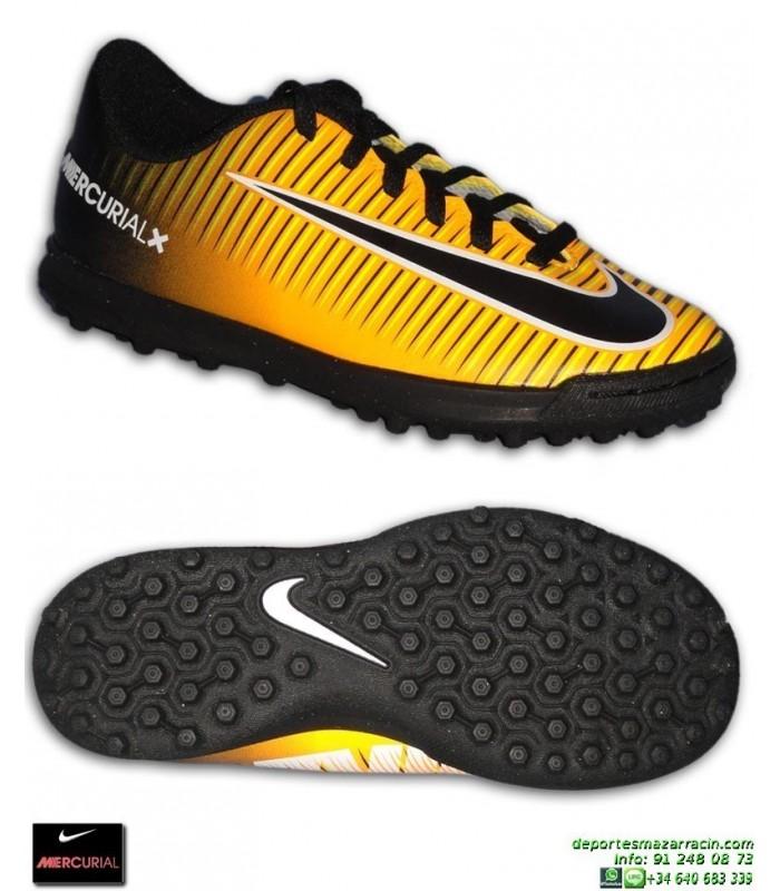 Nike MERCURIAL VORTEX 3 Niño Naranja Zapatilla Futbol Cristiano Neymar Isco  Modrić 831954-801 000306fc12654