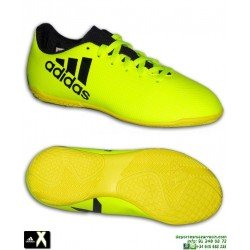 Adidas X 17.4 Niños Amarillo Zapatilla bota Futbol Sala S82410