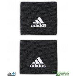 Muñequera Adidas Tennis Wristbands Negro-Blanco