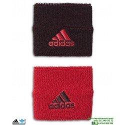 Muñequera Adidas Tennis Wristbands Burdeos-Rojo
