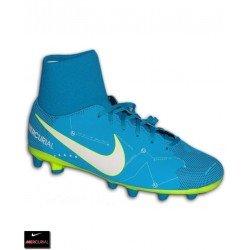Nike MERCURIAL NEYMAR Calcetin Niño Azul Bota Futbol Victory 6 AG-PRO 921484-400