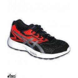 Zapatilla Running Junior ASICS STORMER GS Negro-Rojo C724N-9006 deporte