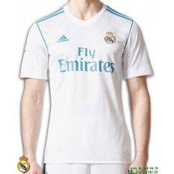 Camiseta REAL MADRID 2017-2018 blanca 1 Equipacion champions Adidas  CI3078 Oficial futbol