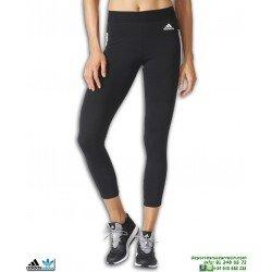 Malla Adidas Mujer ESS 3S TIGHT Negro-Blanco BQ2907 Bandas