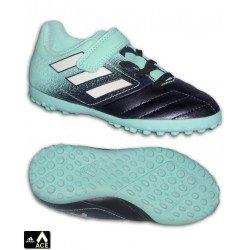 Adidas ACE 17.4 velcro Niño Marino Celeste Zapatilla futbol Microtaco TURF BY2300