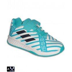 Adidas MESSI EL INFANTIL RAPIDA TURF Blanca VELCRO Zapatilla Futbol BY2652