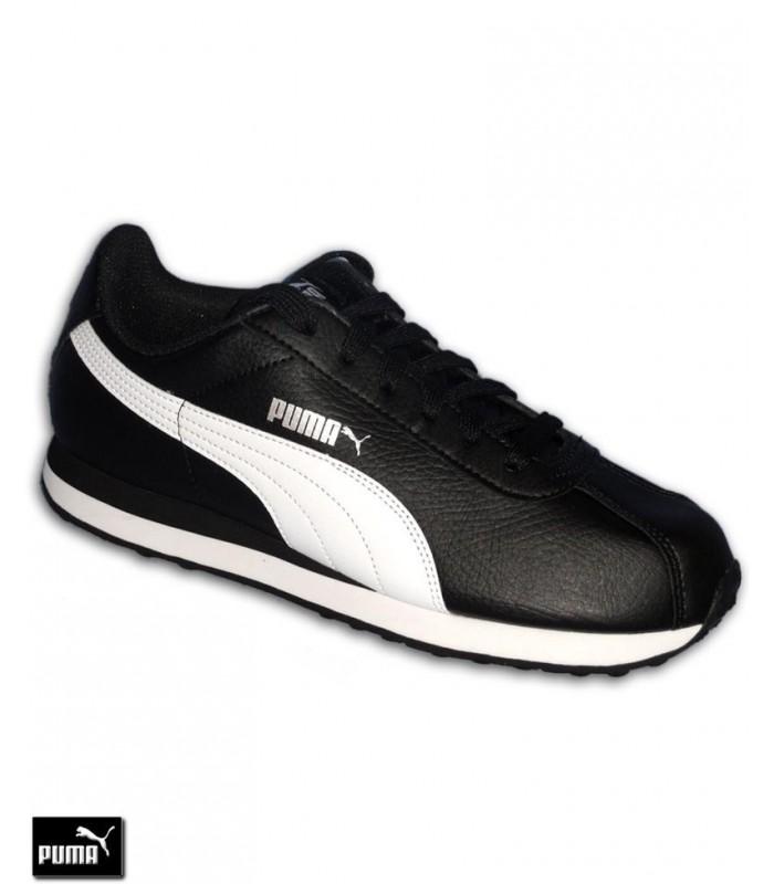 huge discount cf3b1 62cfa Deportiva Clasica PUMA TURIN Negro-Blanco piel Hombre sneakers chico nike  cortez 360116-01 Ampliar