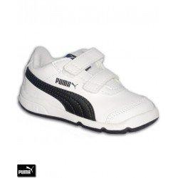 Zapatilla Deporte Infantil PUMA STEPFLEEX 2 SL V INF Velcro Blanco-Negro 190115-06