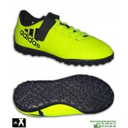 Adidas X 17.4 Velcro Niños Amarillo Zapatilla Futbol Minitacos Turf BB6102 Gareth Bale Luis Suarez