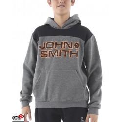 Sudadera Niño Capucha John Smith VACILE Gris-Negro