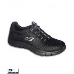 Zapatilla Skechers EMPIRE Take Charge Mujer Negra Memory Foam 12407/BBK