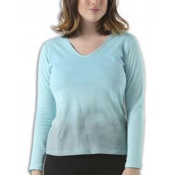 Camiseta Señora JOHN SMITH VALLETRI Verde Agua corte ancho manga corta