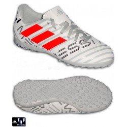 Adidas NEMEZIZ MESSI 17.4 Niños Blanco-Gris Zapatilla Futbol TF S77207
