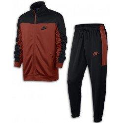 Chandal NIKE M Nsw Trk Suit Pk Hombre Rojo-Negro Poliester acetato