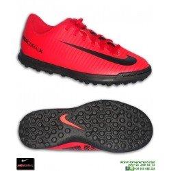 Nike MERCURIAL VORTEX 3 Niño Rojo Zapatilla Futbol Turf
