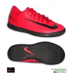 Nike MERCURIAL VORTEX 3 Niño Rojo Zapatilla Futbol Sala