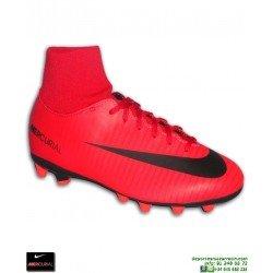 Nike MERCURIAL VICTORY 6 Calcetin Niño Rojo Bota Futbol AG-PRO