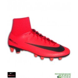 Nike MERCURIAL VICTORY 6 Calcetin Rojo Bota Futbol AG-PRO