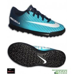 Nike MERCURIAL VORTEX 3 Niño Azul Zapatilla Futbol Turf  Cristiano real madrid isco modric asensio 831954-414
