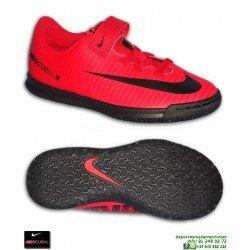 Nike MERCURIAL VORTEX 3 Niño Rojo VELCRO Zapatilla Futbol Sala barcelona 831951-616