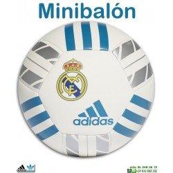 Mini Balon de Futbol Real Madrid Adidas Talla 1 BS0381 personalizar nombre