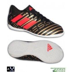 Adidas NEMEZIZ MESSI 17.4 Niños negro-dorado Zapatilla Futbol Sala CP9224