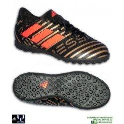 Adidas NEMEZIZ MESSI 17.4 Niños Negro-Dorado Zapatilla Futbol TF CP9217 Multitacos