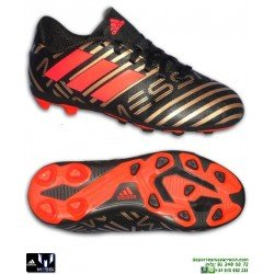 Adidas NEMEZIZ MESSI 17.4 Niños Negro-Dorado Bota Futbol Tacos CP9210