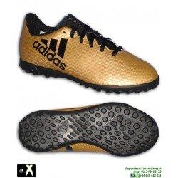 Adidas X Tango 17.4 Niños Dorada Zapatilla Futbol Turf Minitacos CP9043