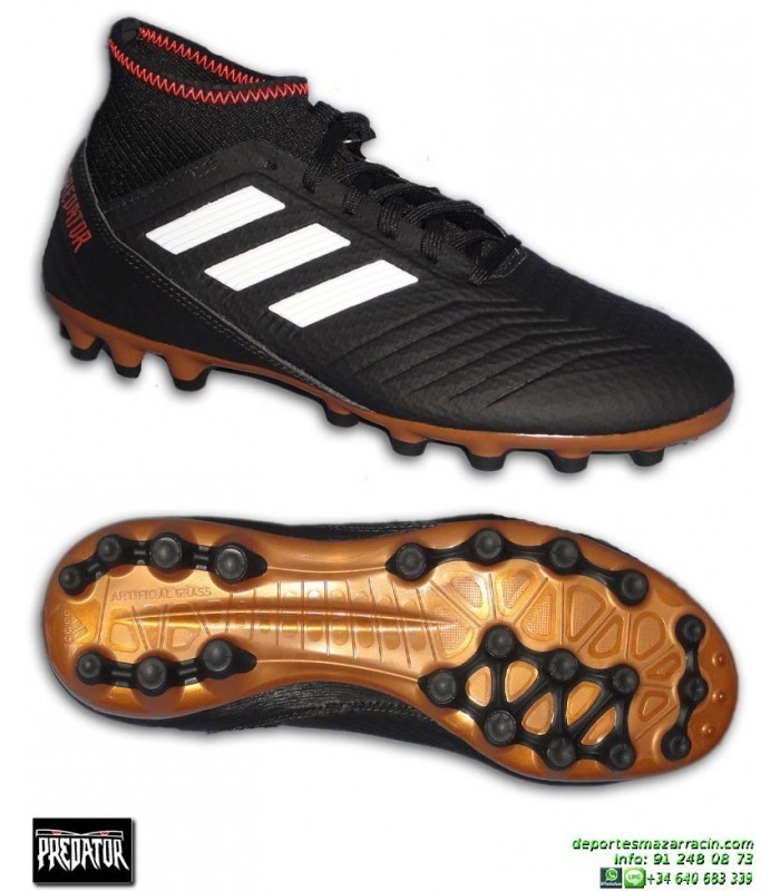 1e43414411607 Adidas PREDATOR 18.3 AG Calcetin Negra Bota Futbol Hierba Artificial CP9306