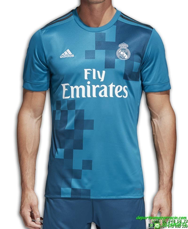 Camiseta REAL MADRID 2017-2018 azul 3 Equipacion ADIDAS BR3539 cd5b9de80a80f