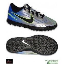 Nike MERCURIAL NEYMAR Niño Plata Zapatilla Futbol Turf