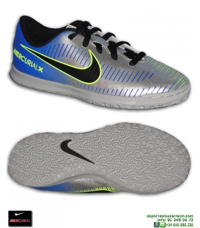 d3652410c2d69 Nike MERCURIAL NEYMAR Niño Plata Zapatilla Futbol Sala vortex 3 PSG  921495-407