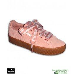 Sneakers Mujer PUMA VIKKY PLATFORM RIBBON BOLD Rosa chica Lazo Rihanna Creeper 365314-02