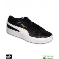 Sneakers Mujer PUMA VIKKY PLATFORM Leather Negro-Blanco