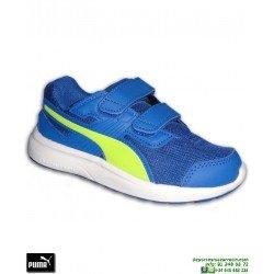 Zapatilla Deporte Niño PUMA ESCAPER MESH PS Velcro Azul 190326-04 junior