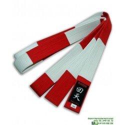 Cinturón de Karate KAITEN 6º DAN Blanco-Rojo
